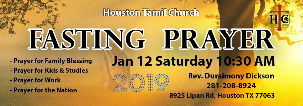 Fasting Prayer Meeting @ 10:30 am.